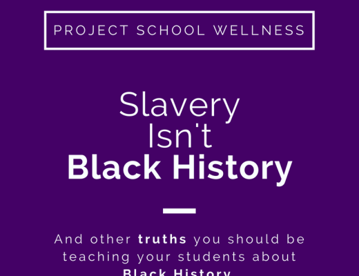 Slavery Isn't Black History and other truths you should be teaching about Black History - project School Wellness, Black History Month Lesson Plans