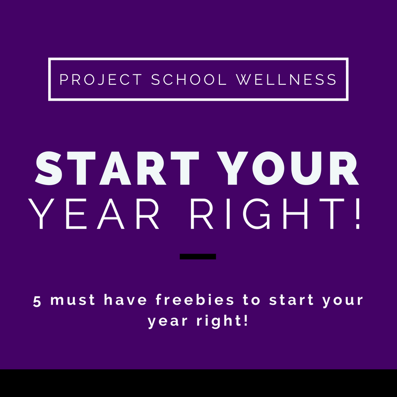 Start your year right with 5 must have teacher freebies! Lay a foundation for success with some of Project School Wellness' top resources. Click to download self-assessment poster, precept writing activity, student praise cards, progress sheet, All About Me poster! These freebies will help you start your year right and be on your way to changing your students' lives forever!