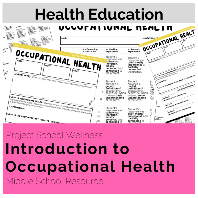 Middle School Health Lesson Plans - No Prep Lesson Plans - Introduction to Occupational Health lesson plan introduces students to the concept of occupational health. An individual's career plays a powerful role in determining someone's ability to thrive. This activity helps students understand the basics of occupational well-being, setting a foundation for future lessons on career exploration.
