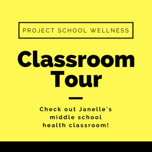 Check out this inspiring middle school health classroom! Janelle from Project School Wellness take you on a photo tour of her classroom!