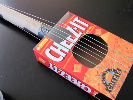 Make a toy guitar out of recycled materials projects for for Cool things to make out of recycled materials