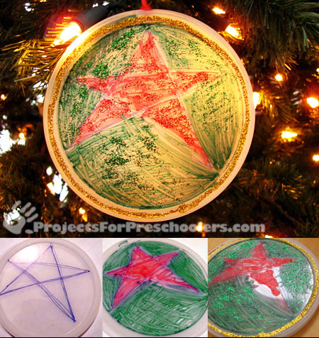 Plastic lid ornaments