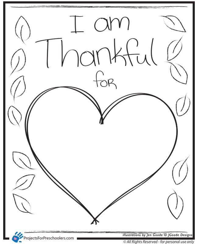 i am thankful  heart  projects for preschoolers