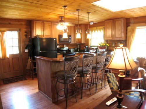 Log Cabin Kitchen Before & After: Work in Progress, New Kitchen Cabinets