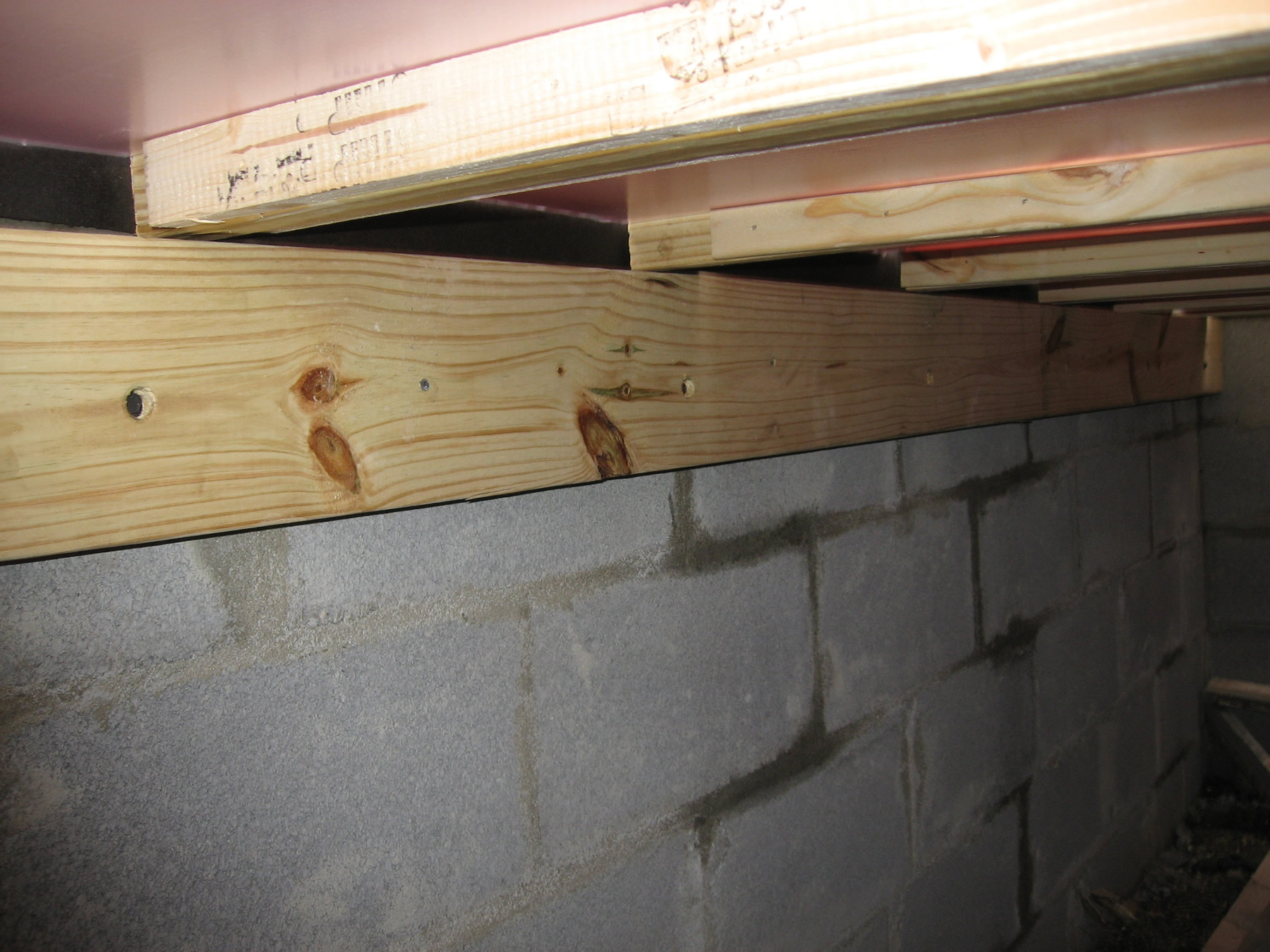 Closet Foundation With Ledger Project: Adding Closets To The Log Cabin    Inside The Foundation Of The Closet.
