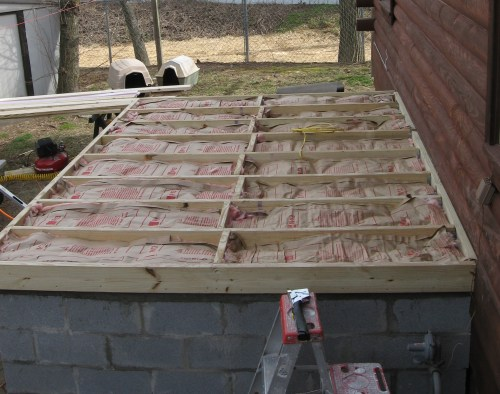 Project: Adding Closets to the log cabin - Closet Floor Insulated