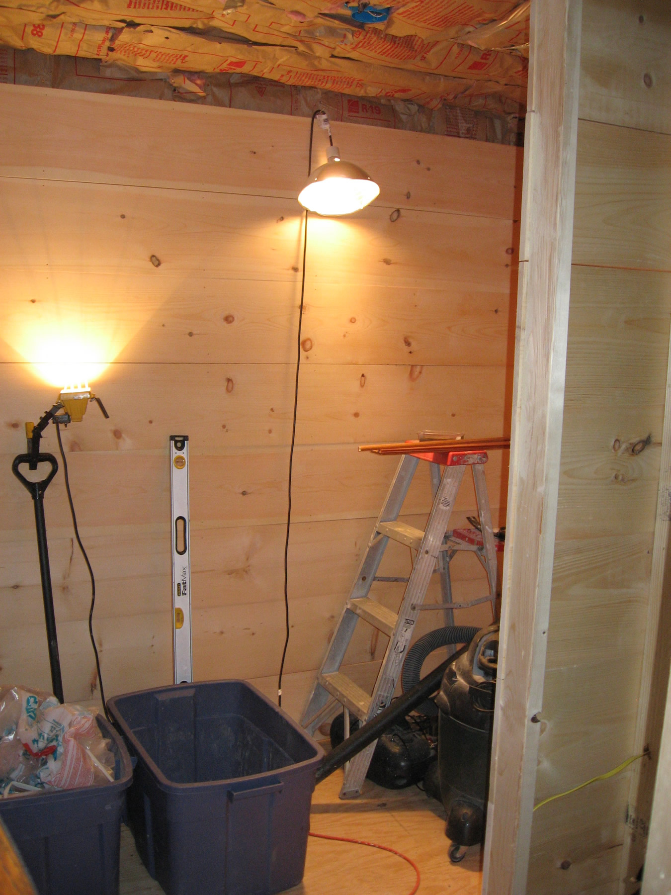 Project: Adding Closets To The Log Cabin   We Finished The Closet Walls  With Wood