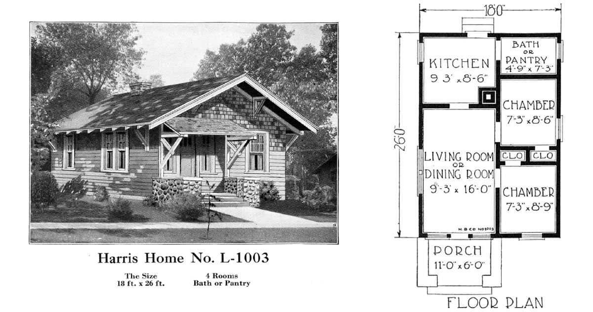 Historic Plans: Small Bungalow Harris Home No. L-1003