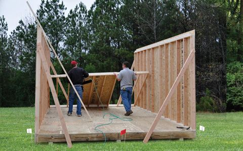 Classic Manor materials are delivered, then assembled on your site. This is a much smaller building than we will be putting up. And it is just put on blocks. A small house would have to have a better foundation.