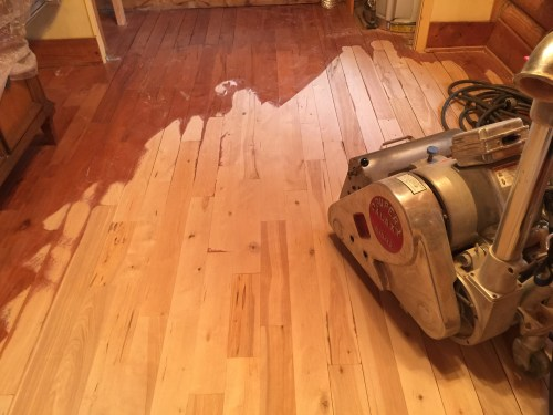 Project Small House - Refinishing Hardwood Floor: The wood does not look at all the same with the finish removed.