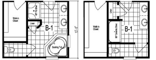 Bath Options - The Maiden II Floor Plans - Modular Homes: The Maiden II at Premier Homes of the Carolinas – Project Small House