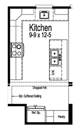 Kitchen Layout - The Maiden II Floor Plans - Modular Homes: The Maiden II at Premier Homes of the Carolinas – Project Small House