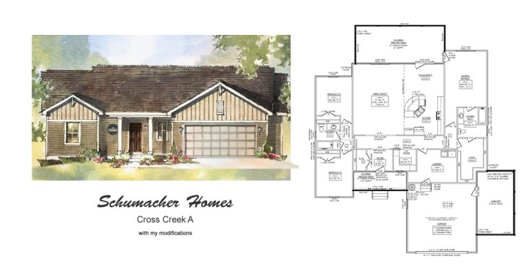 Schumacher Homes Cross Creek Modified House Plan