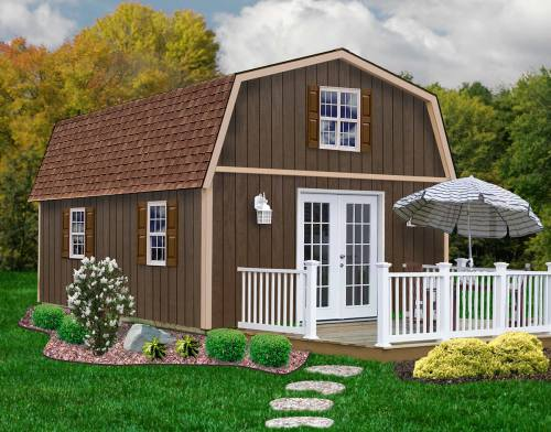 The Richmond Barn Kit by Best Barns can be used to assemble a cabin, workshop or garage.
