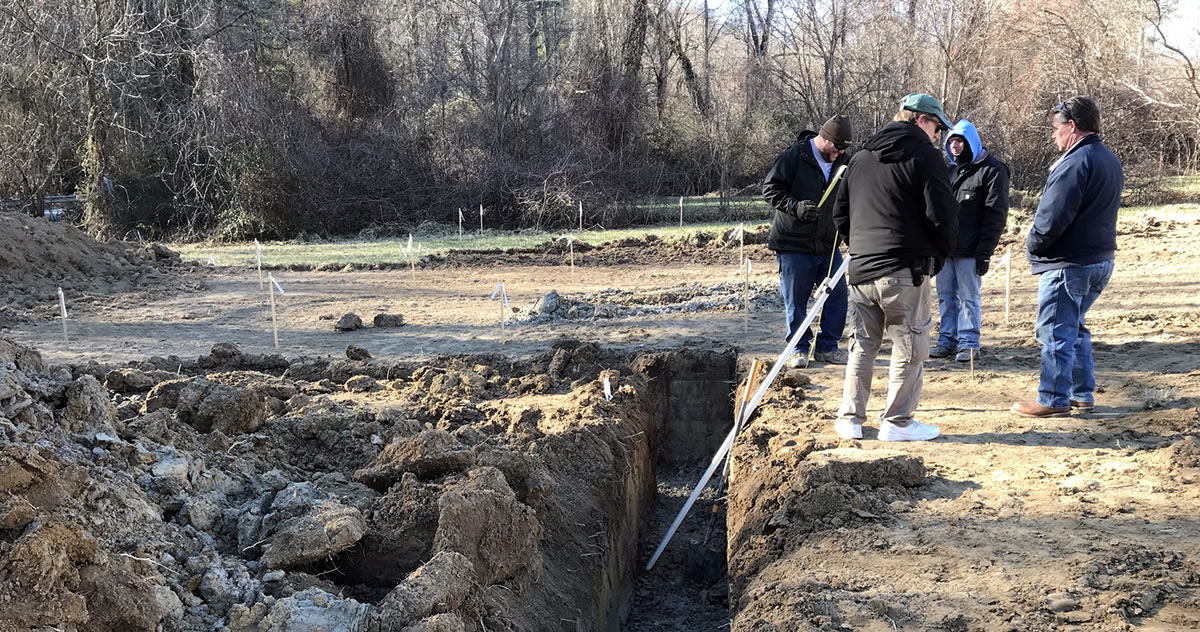 Building a New House – Digging the Footers