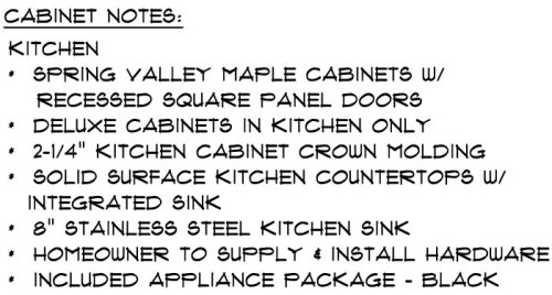 Schumacher Homes Kitchen - The stainless steel sink is standard. I think they forgot to delete it. We will have the Corian integrated sink from the line above. Unless they plan to give us two sinks?