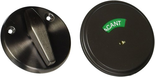 Schlage B571 One Sided Deadbolt with In Use Indicator in Oil Rubbed Bronze - Project Small House