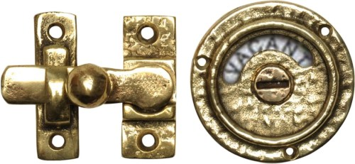 VE13-3102 Privacy Bolt latch in cast brass - Project Small House