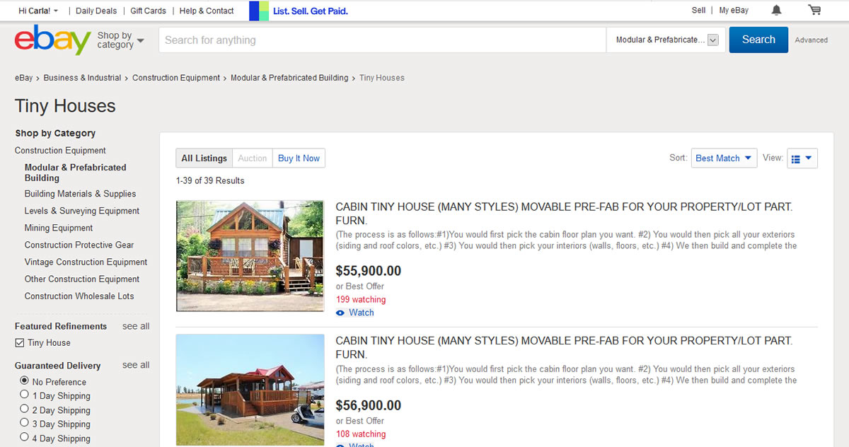 Tiny Houses On Ebay Project Small House