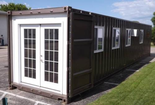 Shipping Container with doors and windows - Project Small House