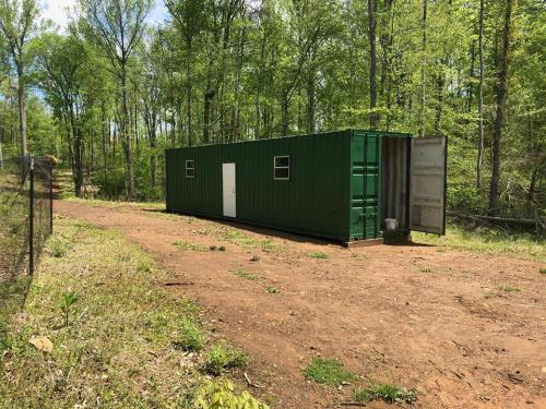 Shipping Container with walk in steel door - Project Small House
