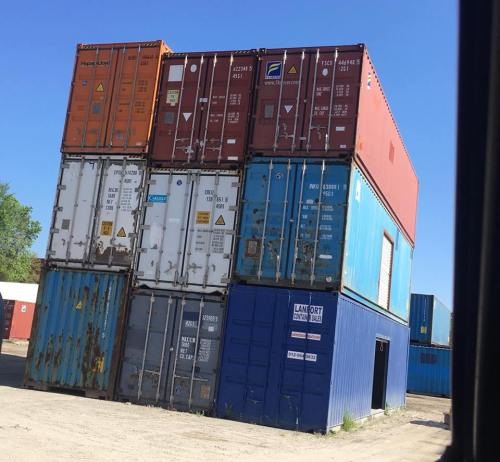 Shipping Container stacked up - Project Small House