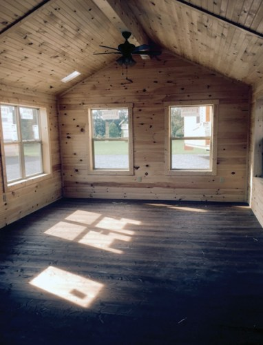 You can order a log cabin shell, then finish the inside yourself. - White Tail Log Cabin – Project Small House