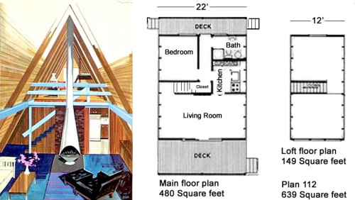 House Plans - Classic Design for a Low-Budget A-Frame - Classic Design for a Low-Budget A-Frame – Project Small House