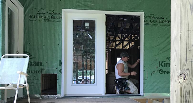 French Doors, Carport Door, Dog Door And The Last Window