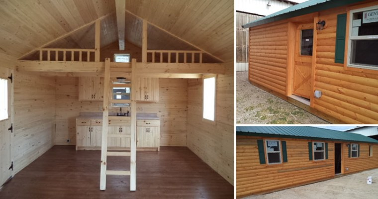 Modular Log Cabin on eBay
