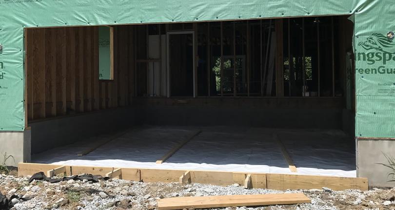 Preparing to Pour the Concrete Garage Floor