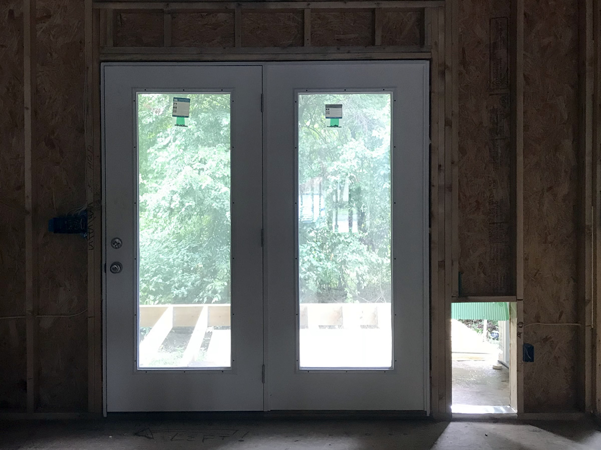 French Doors Carport Door Dog Door And The Last Window