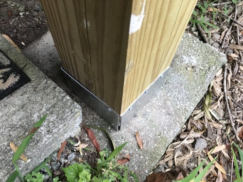 New porch support - Replacing Deteriorating Log Cabin Porch Supports – Project Small House