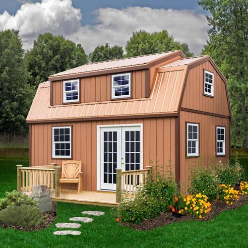 Lakewood 12' x 18' Shed Kit with Large Dormer - Lakewood Shed Kit with Large Dormer – Project Small House