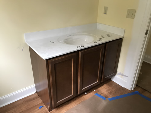 Vanity - Cultured Marble Vanity Tops and Tub Surround – Project Small House