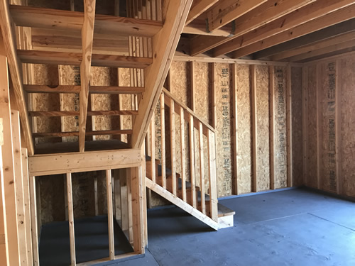There is space under the landing - Summer Wind: Two Floor Storage Barn – Project Small House