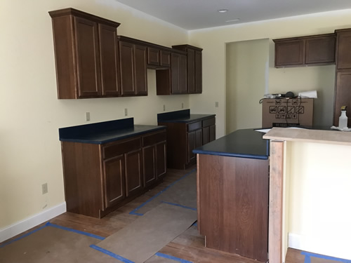 The counter tops - Corian Countertops in the Kitchen - Schumacher Homes Cross Creek – Project Small House