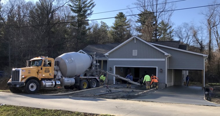 Putting in the Driveway, Carport and Sidewalk Continues