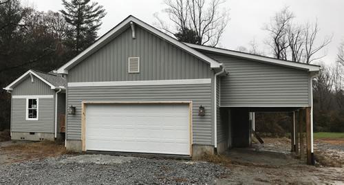 The garage door installed - Garage Door – Building our Schumacher Home – Project Small House