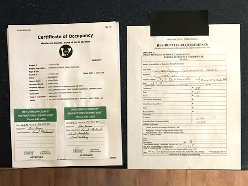 We got our CO! (Certificate of Occupancy) – Building our Schumacher Home – Project Small House