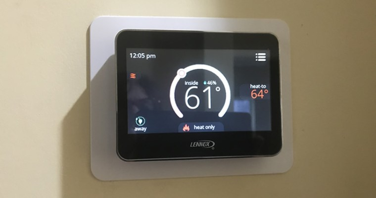 The Right Thermostat: Lennox ComfortSense 7500 Touchscreen Thermostat