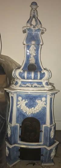 Sky Blue Kakelugn on eBay - Swedish Kachelofen – Project Small House