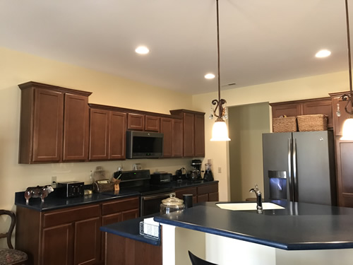 We haven't installed the under-cabinet lighting by the stove yet. - Our New Kitchen - Getting Settled – Project Small House