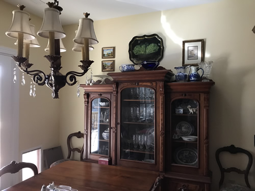 I moved the china and crystal into the new cabinet. - Getting Settled and Enjoying Spring – Project Small House