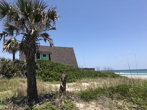 A-frame house off A1A, right on the beach