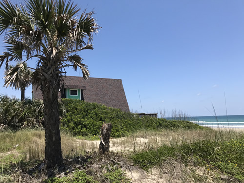 A-frame house off A1A, right on the beach