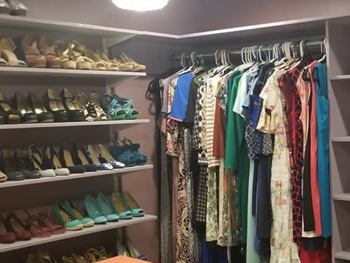 Sandra's Dressing Room Closet