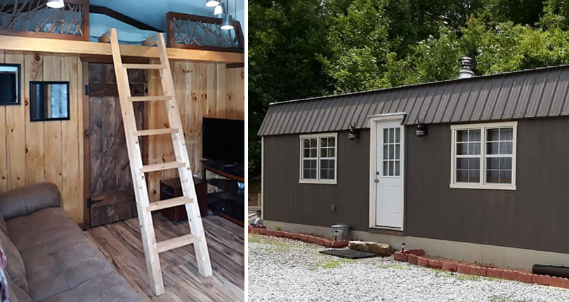 Storage Barn Converted to Tiny House