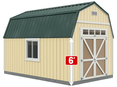 Sundance Series TB-600 with optional windows, metal roof and double barn doors