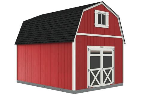 Sundance Series TB-700 Barn with optional barn doors and window with shutters